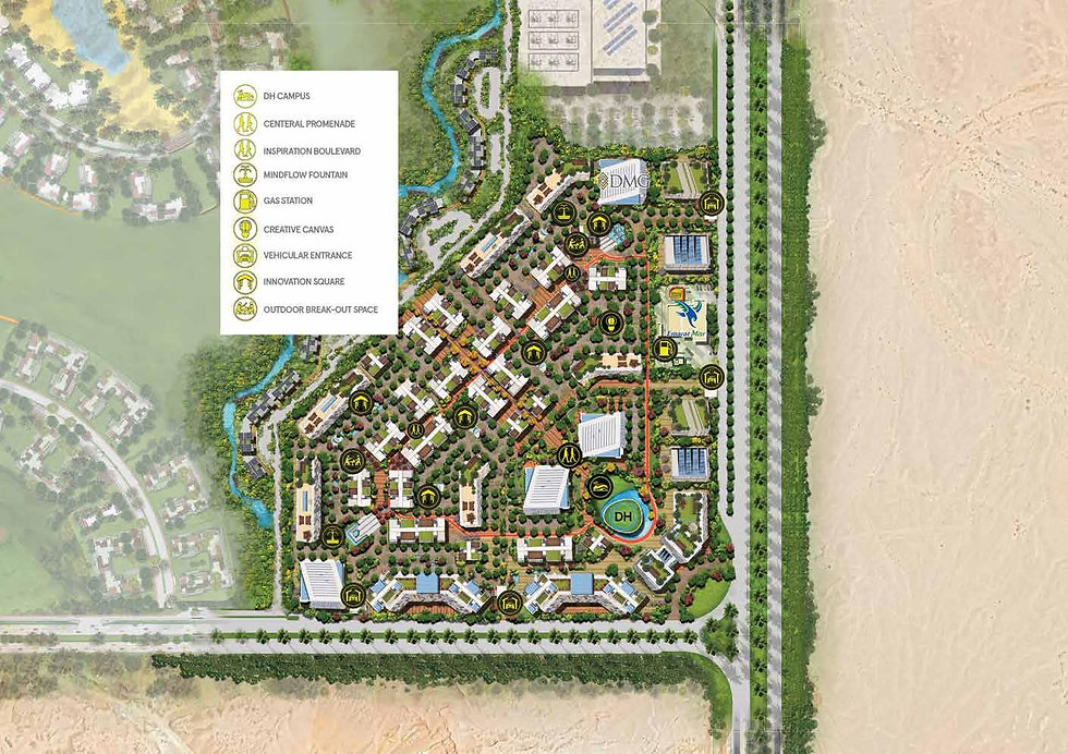 Master plan for Heartwork Business Hub in iCity New Cairo