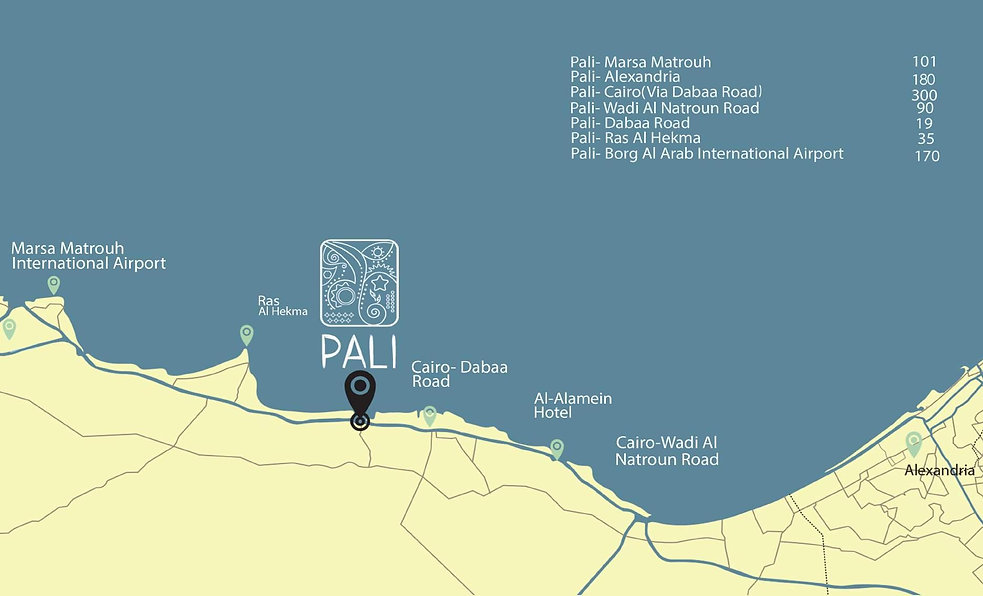 Location of Pali North Coast
