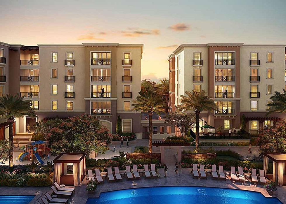 Apartment Buildings in Lakefront Residences Mivida New Cairo