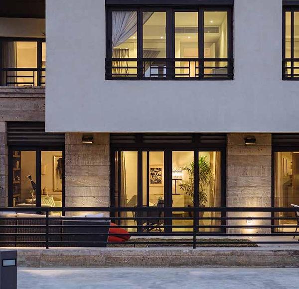 Trio New Gardens exterior facade of villas
