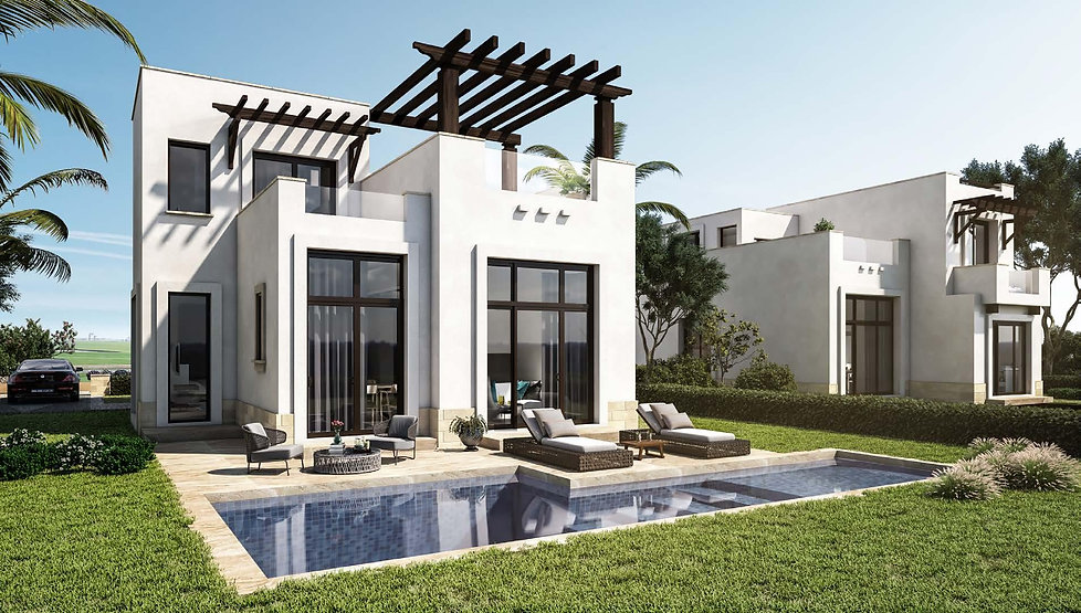 Cyan E Gouna Type B Villa 155 sqm external design pool view