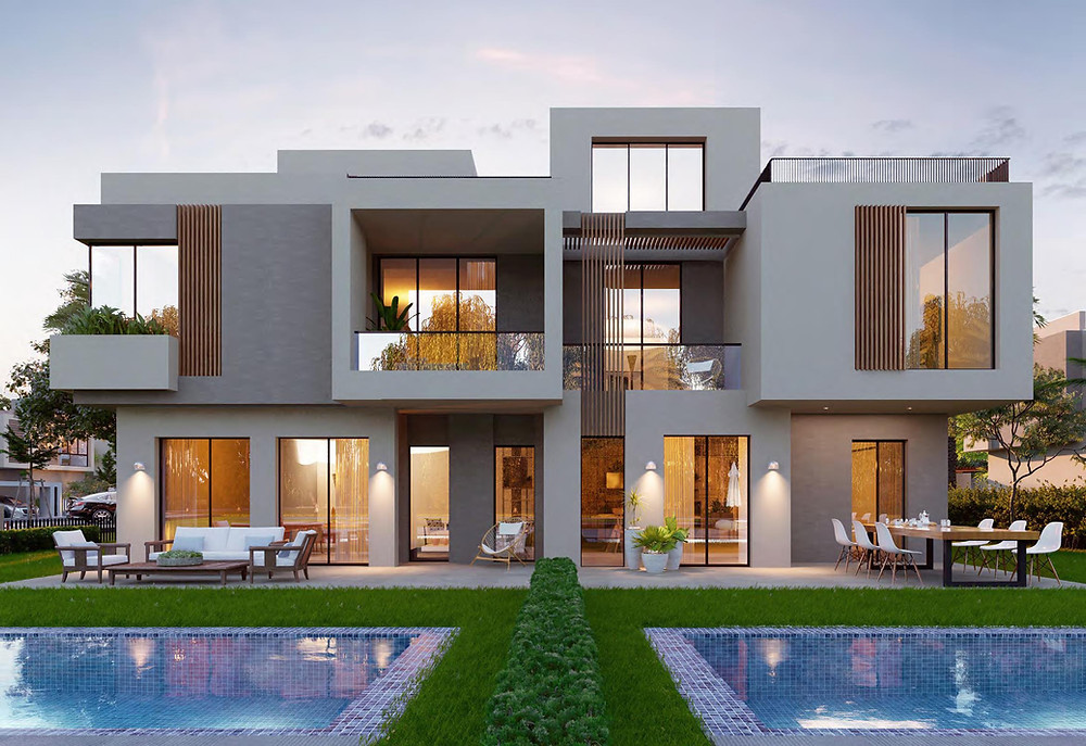 Twin House Render for SODIC East, New Heliopolis, East Cairo