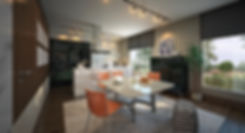 Interior design for apartments at The Iris