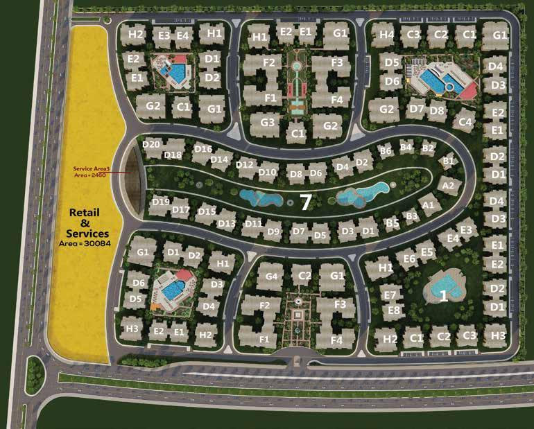 Master plan for Galleria Residence Compound