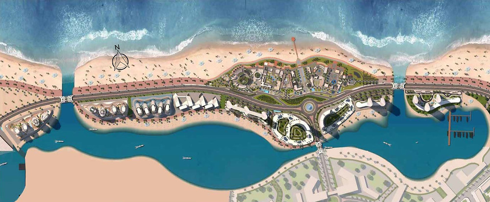 Master plan design for New Alamein City
