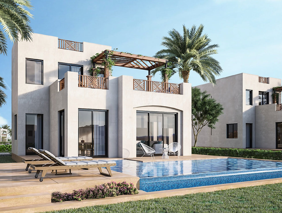 Back render for Sole Standalone Villas at Makadi Heights