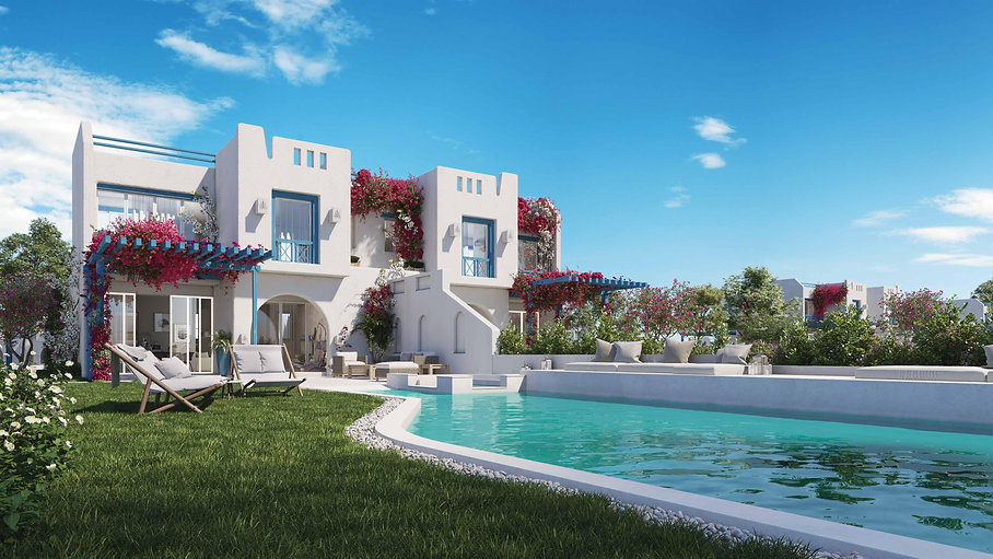 Villas in Rhodes Island Mountain View