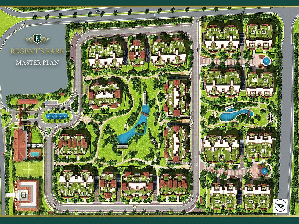 Master plan of Regent's Park New Cairo