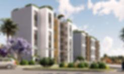Apartment building facade in Eco October