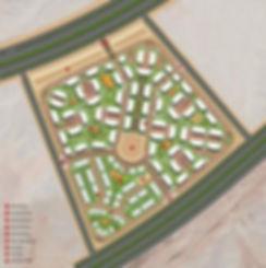 master plan for Bleu-Vert New Capital SECON بلوفير - العاصمة الإدارية - الشركة السعودية المصرية للتعمير - سيكون