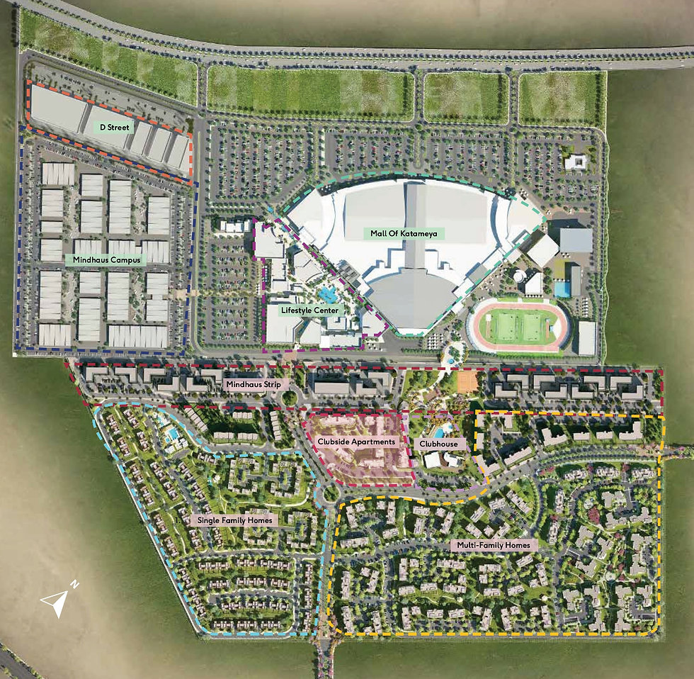 District Five New Cairo Master Plan annotated
