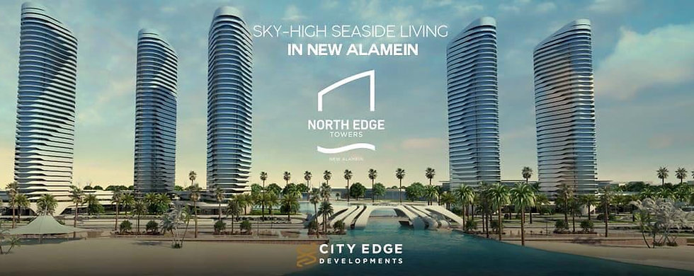 North Edge Towers in New Alamein City offers sky-high sea side living brought to you by Ciyt Edge Developments in Egypt