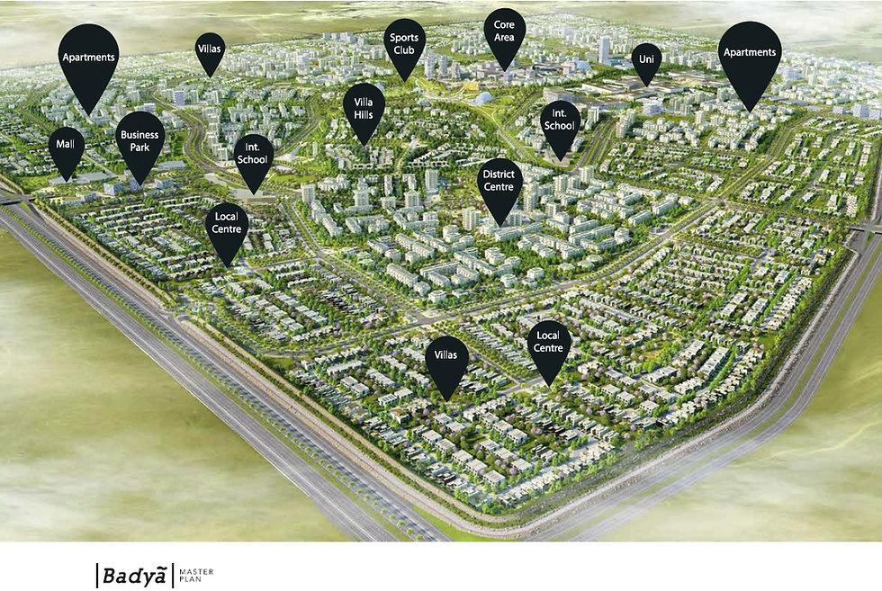 Facilities and amenities within Badya The Creative City