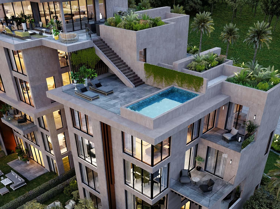 Rooftop pool in Fera Residences penthouse