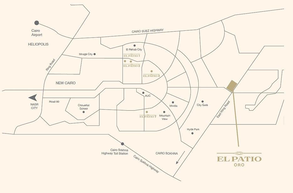 Locatio of El Patio Oro in New Cairo