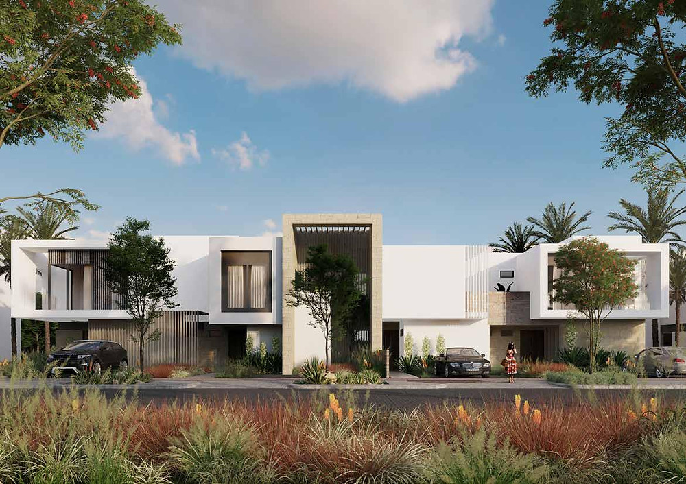 Town Houses design in Zed East