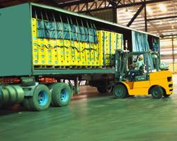 Diariamente cargamos los camiones para distribuir