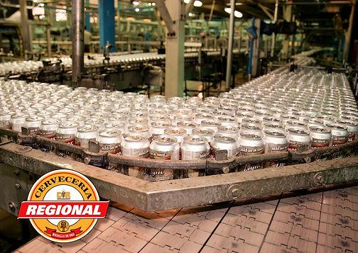 Línea de llenado de lata de Cervecería Regional