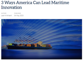 3 Ways America Can Lead Maritime Innovation