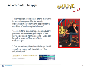 Maritime technology industry today?