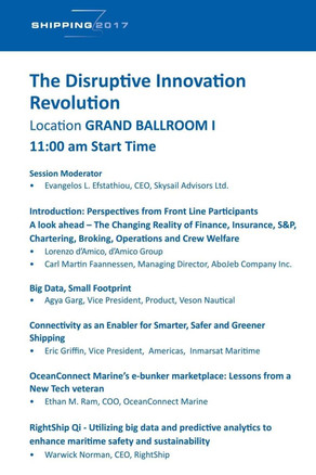 "Skysail Advisors Ltd invites you to learn more about the ""Disruptive Innovation Revolution"""