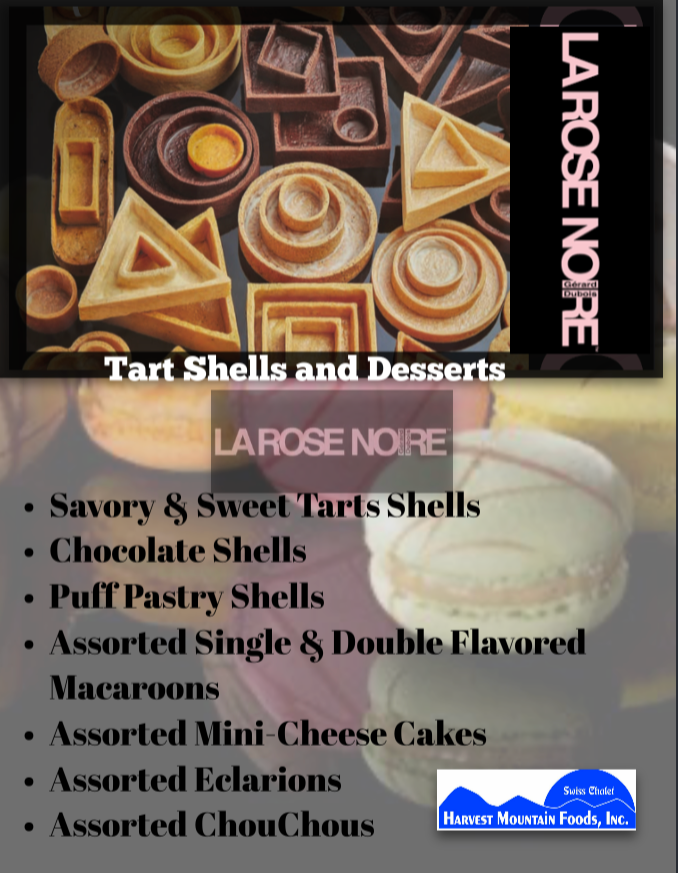 Tart Shells-Macaroons-Mini Cheesecakes
