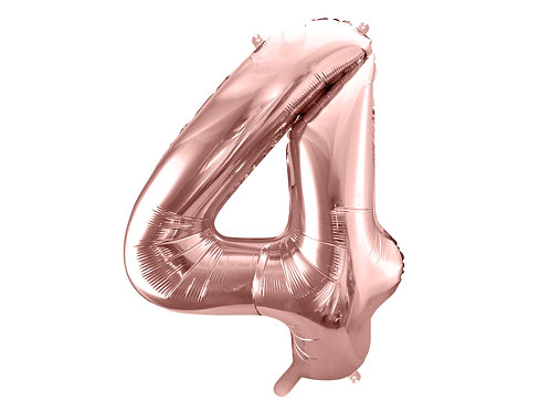"Fóliový balónek ""4"" 86 cm - rose gold"