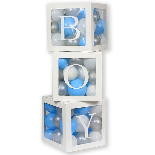 Box na balónky - nápis BOY