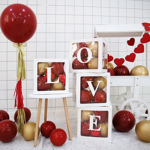 Box na balónky - nápis LOVE