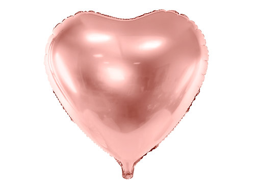 Fóliový balónek - růžově zlaté srdce