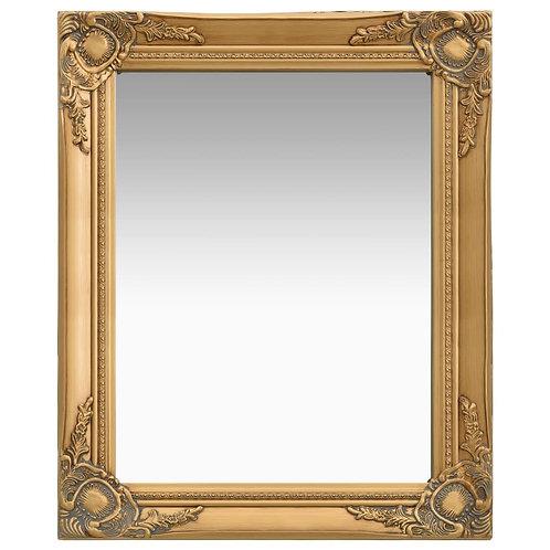 Zrcadlo zlaté 50x80 cm