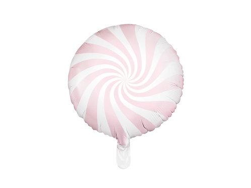 Fóliový balónek - bonbón růžový