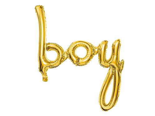 """Nápis""""boy"""" zlatý"""