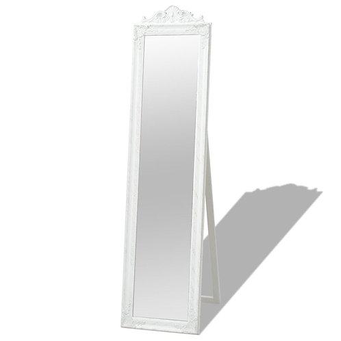 Zrcadlo bílé s podstavcem