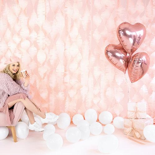 Buket růžově zlatých srdcí 3 ks - již s héliem