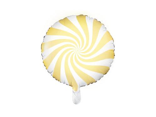 Fóliový balónek - bonbón žlutý