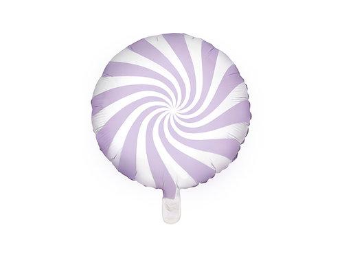 Fóliový balónek - bonbón fialový