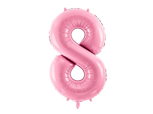 "Foliový balónek ""8"" 86 cm - candy pink"