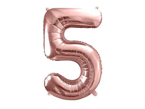 "Fóliový balónek ""5"" 86 cm - rose gold"