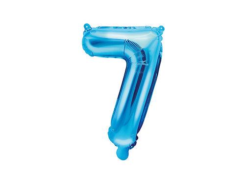 "Fóliový balónek ""7"" 35 cm  - modrá"