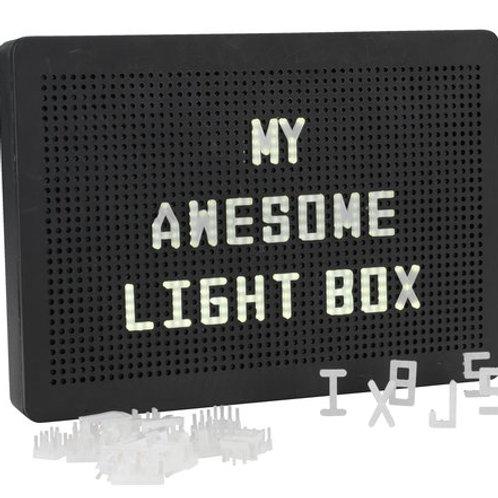 Černý svítící box