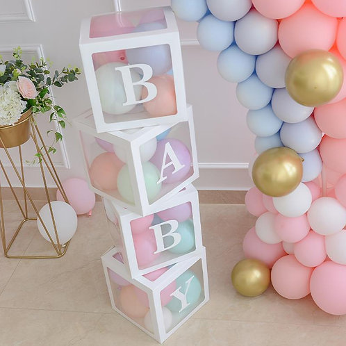 Box na balónky - nápis BABY