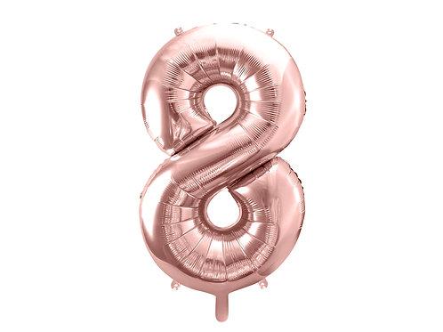 "Fóliový balónek ""8"" 86 cm - rose gold"