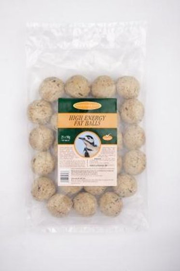 Pack of 25 High Energy Fat Balls