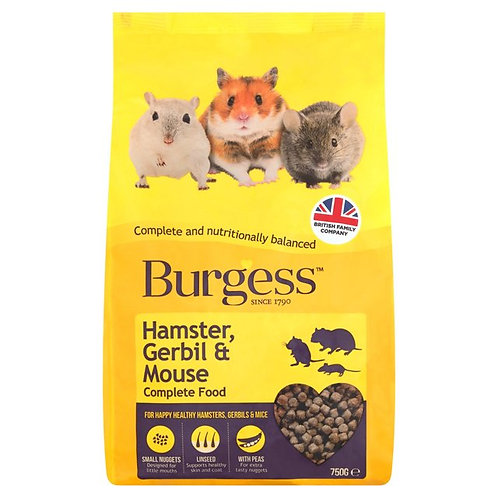 Burgess Hamster, Gerbil & Mouse 750g