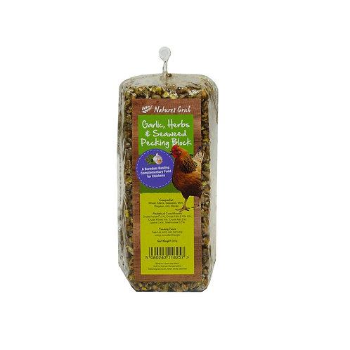 Natures Grub Garlic Pecking Block 280g