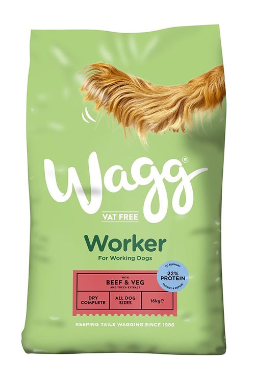 Wagg Worker Beef and Veg 16kg