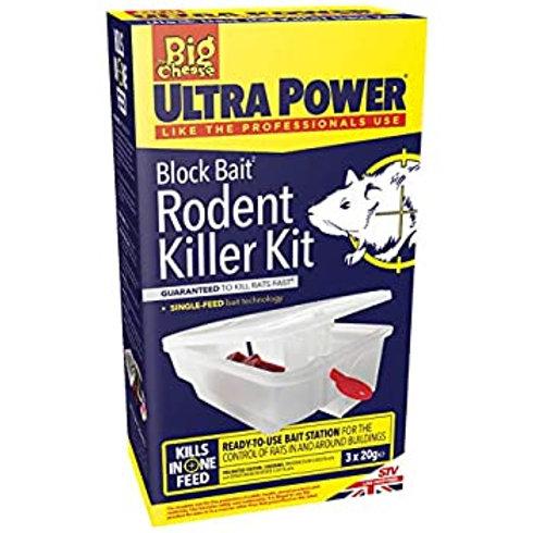 The big cheese - Ultra Power - Block bait rodent killer kit