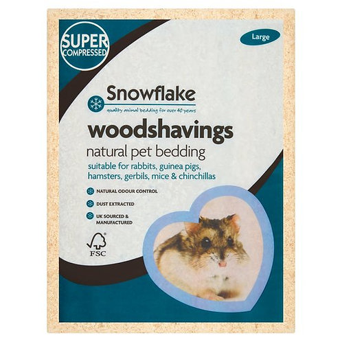 Snowflake woodshavings large