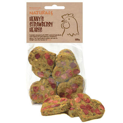 Rosewood - Henry's Strawberry Hearts 120g